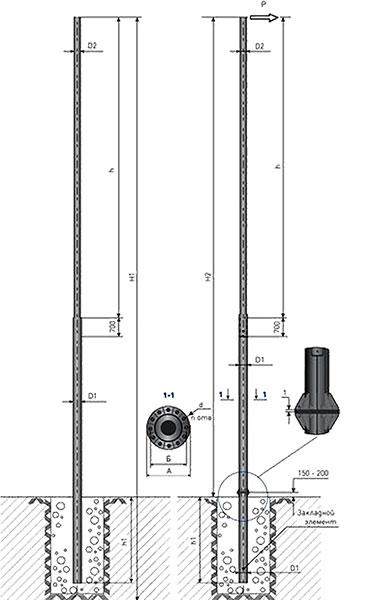 опоры металлические силовые типа ТП и ТФ