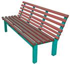 Уличная садовая металлическая скамейка со спинкой