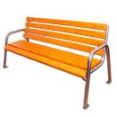 Скамейка металлическая парковая