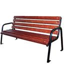 Садовая металлическая скамейка со спинкой
