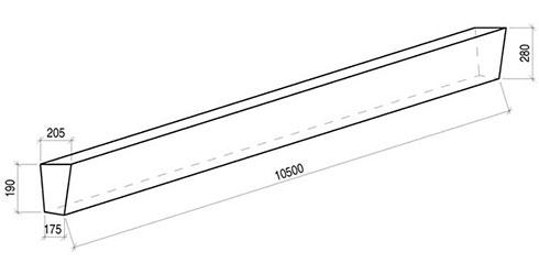 Стойка железобетонная вибрированная СВ 105-3,6 для опор