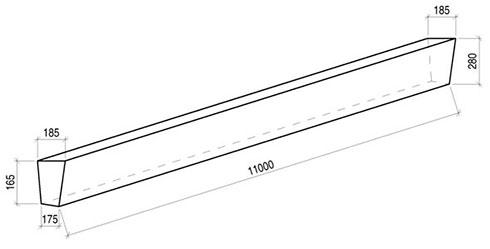 Стойка железобетонная вибрированная СВ 110-3,5 для опор
