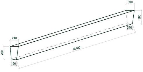 Стойка железобетонная вибрированная СВ 164-20 для опор