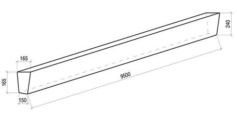 Стойка железобетонная вибрированная СВ 95-2 для опор